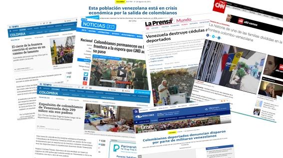 Medios colombianos falsean hechos en la frontera colombo-venezolana